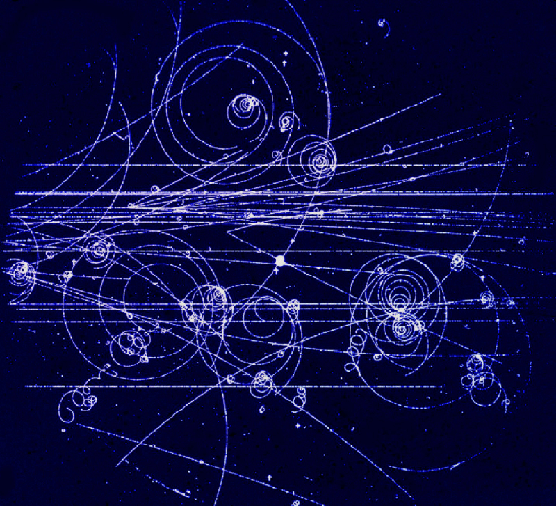 """""""Trajectories in a Cloud Chamber"""" Image from Gordon Fraser/CERN (CC BY 4.0)"""